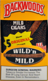 BACKWOODS WILD &amp; MILD ORIGINAL (5 PACKS OF 8 CIGARS)