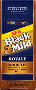 "BLACK & MILD ""ROYALE "" WOOD TIP CIGARS 25 COUNT BOX"