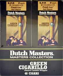 Dutch Master Green Cigarillos - 20 Foil Pouches 2 Cigarillos Per Pouch