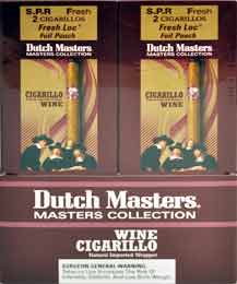 Dutch Master Wine Cigarillos - 20 Foil Pouches 2 Cigarillos Per Pouch
