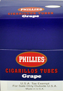 Phillies Cigarillos Grape- 25 Tubes
