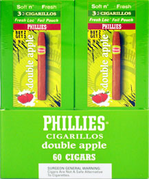 PHILLIES CIGARILLOS DOUBLE APPLE 3 FOR 2