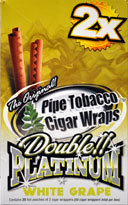 BLUNT WRAP DOUBLE PLATINUM - WHITE GRAPE- 25 PACKS OF 2