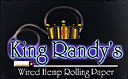 KING RANDY'S WIRED HEMP ROLLING PAPERS 20/24CT BOOKLETS