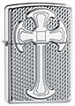 ZIPPO MESH CROSS - ARMOR - HIGH POLISH CHROME