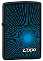 ZIPPO STARBURST BLUE - BLACK MATTE