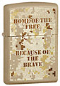 ZIPPO HOME OF THE FREE - CASHMERE CRACKLE