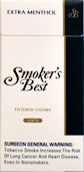 Smokers Best Extra Menthol 120's Filtered Cigars Box