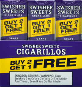 SWISHER SWEETS CIGARILLOS FOIL GRAPE 30 - 3PKS