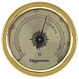 Gold Tone Analog Hygrometer