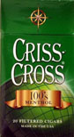 Criss Cross Filtered Cigars - Menthol 100 Box