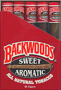 BACKWOODS SWEET AROMATIC (25 TUBED CIGARS)