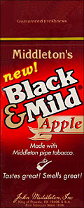 "BLACK & MILD ""APPLE"" CIGARS 25 COUNT BOX"