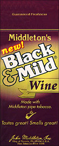 BLACK and MILD WINE CIGARS 25 COUNT BOX