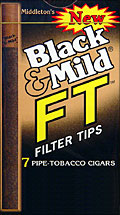 BLACK &amp; MILD &quot;FT&quot; FILTER TIP CIGARS 10/7PKS
