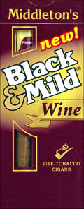 "BLACK & MILD ""WINE"" CIGARS 10/5PKS"