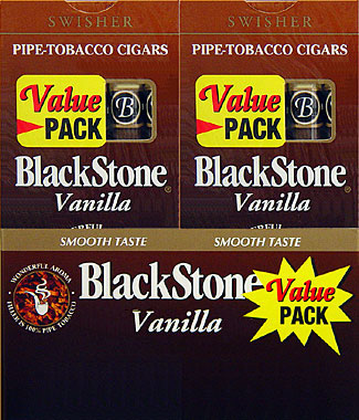 BLACKSTONE VANILLA CIGARS VALUE PACK. 20 - 5PKS