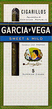 GARCIA Y VEGA CIGARILLOS SWEET &amp; MILD 10 5/PKS