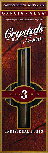 GARCIA Y VEGA CRYSTALS NO. 100 - 5 3/PKS