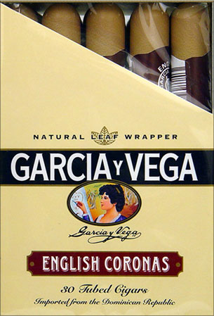 Buy GARCIA Y VEGA ENGLISH CORONAS 30 TUBED CIGARS