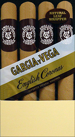GARCIA Y VEGA ENGLISH CORONAS 5 4/PKS