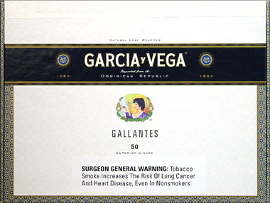 GARCIA Y VEGA GALLANTES 50CT BOX