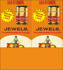 HAV A TAMPA JEWELS BIRCHWOOD TIP CIGARS VALUE PACK 20/5 PACKS