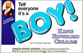 KING EDWARD &quot;IT'S A BOY&quot; CIGARS 50CT BOX