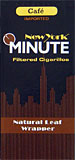 New York Minute Filtered Cigarillos Cafe Tin