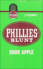 PHILLIES BLUNT SOUR APPLE 10/5PKS