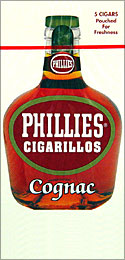 PHILLIES CIGARILLOS COGNAC 6/5PKS