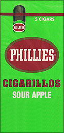 PHILLIES CIGARILLOS SOUR APPLE 6/5PKS