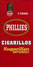 PHILLIES CIGARILLOS SUGARILLOS 6/5pks