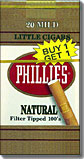 PHILLIES NATURAL MILD LITTLE CIGARS 100- FILTER TIPPED-CARTON