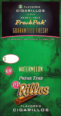 Prime Time Rillos Watermelon Cigarillos 10/2pk