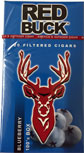 Red Buck Filtered Cigars - Blueberry 100s Box