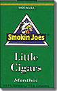 SMOKIN JOES LITTLE CIGARS MENTHOL