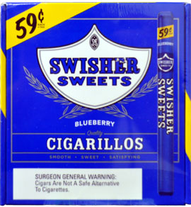 Swisher Sweets Cigarillos Foil Blueberry 60CT Bonus Box