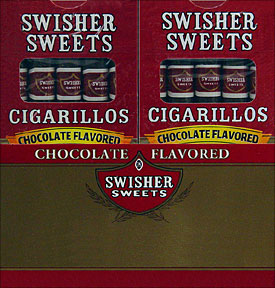 SWISHER SWEETS CIGARILLOS CHOCOLATE 20/5PKS