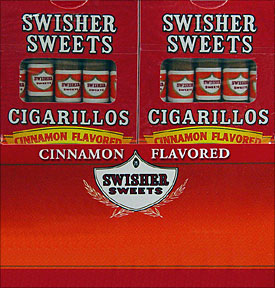 SWISHER SWEETS CIGARILLOS CINNAMON 20/5PKS