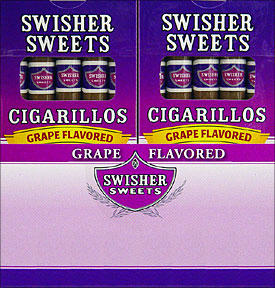 SWISHER SWEETS CIGARILLOS GRAPE 20/5PKS