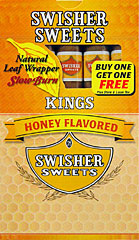 SWISHER SWEETS KINGS - HONEY 10 - 5PKS - PROMOTIONAL CARTON