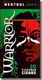 Warrior Filtered Cigars - Menthol 100's