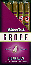 WHITE OWL CIGARILLOS - GRAPE 25CT