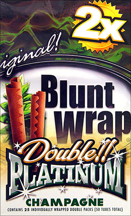 BLUNT WRAP DOUBLE PLATINUM - CHAMPAGNE - 25 PACKS OF 2
