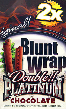 BLUNT WRAP DOUBLE PLATINUM - CHOCOLATE - 25 PACKS OF 2