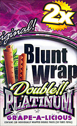 BLUNT WRAP DOUBLE PLATINUM - GRAPE- 25 PACKS OF 2