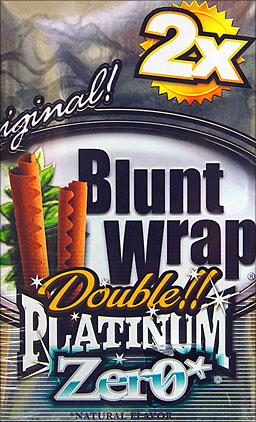 BLUNT WRAP DOUBLE PLATINUM - ZERO - 25 PACKS OF 2