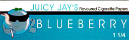 JUICY JAY'S 1 1/4 BLUEBERRY HERBAL PAPERS 24CT BOX