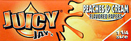Buy JUICY JAYS 1 1 - 4 PEACHES and CREAM HERBAL PAPERS 24CT BOX